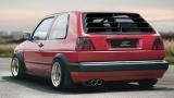 Katzentreppe Heckscheibenblende Spoiler Jalousie Louver passend für VW Golf 2 II